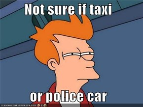 Not sure if taxi  or police car