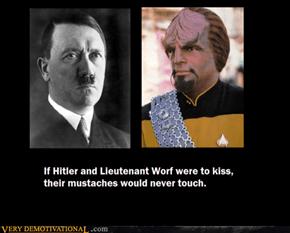 IF HITLER & LIEUTENANT WARF WERE TO KISS