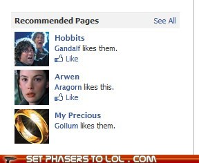Lord of the Recommended Pages
