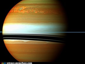 The HELL IS THAT? Oh Nothing ,Just a CRAZY BIG Storm Across Saturn