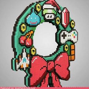 8 Bit LED Gamer Wreath