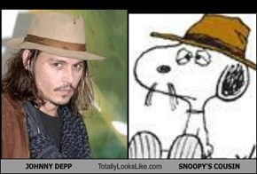JOHNNY DEPP Totally Looks Like SNOOPY'S COUSIN