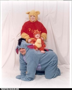 The Child Should Be Piglet, Your Bizarre Family Photo is Invalid