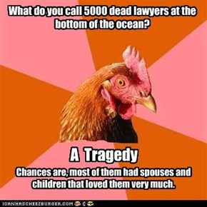 Anti-Joke Chicken Goes Pro Bono
