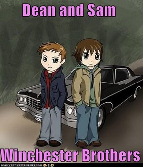Dean and Sam  Winchester Brothers since 2005