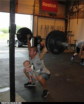 The Baby Helps Work out My Core a Little More