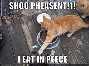 SHOO PHEASENT!1!