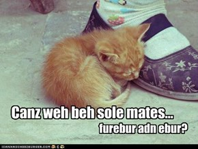 Canz weh beh sole mates...