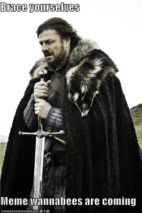 Brace yourselves   Meme wannabees are coming