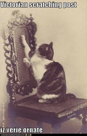 Victorian scratching post