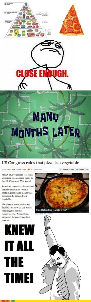 Pizza Is a Veggie [Fixed]