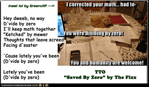 """Divide By Zero"" (TTO ""Saved By Zero"" by The Fixx)"