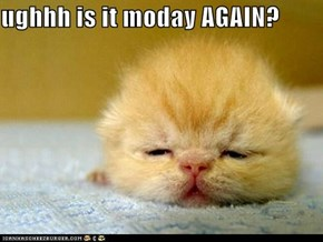 ughhh is it moday AGAIN?