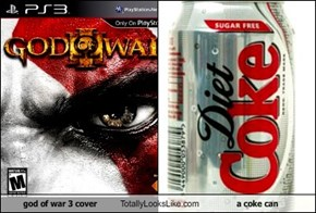 god of war 3 cover Totally Looks Like a coke can