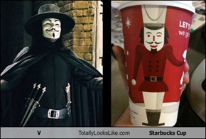 V Totally Looks Like Starbucks Cup