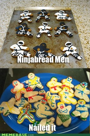They'll Be Ninja Cookies Once They're All Eaten