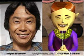 Shigeru Miyamoto Totally Looks Like Happy Mask Salesman