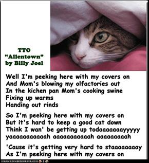 """""""Peeking Cat"""" (TTO """"Allentown"""" by Billy Joel)"""