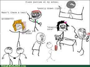 Class parties rage