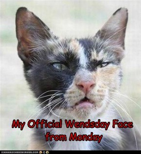 My Official Wendsday Face  from Monday