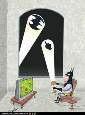 Batman's TV evening