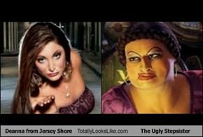 Deanna from Jersey Shore Totally Looks Like The Ugly Stepsister