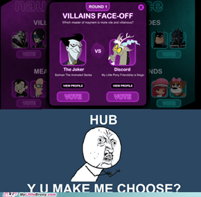 Y U MAKE ME CHOOSE?