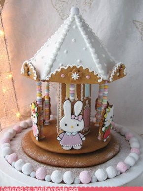 Hello Kitty Gingerbread House Carousel