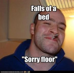 Falls of a bed