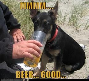 MMMM....  BEER... GOOD...