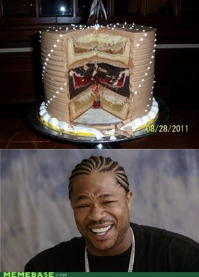 Yo dawg, I heard you like cakes