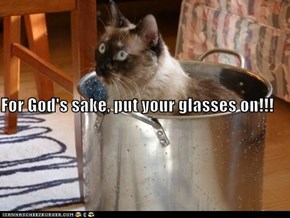For God's sake, put your glasses on!!!