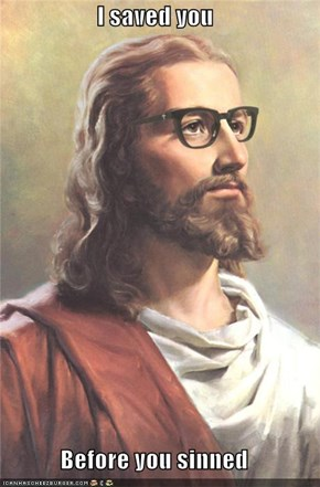 Hipster Jesus Knew You Before You Were Born