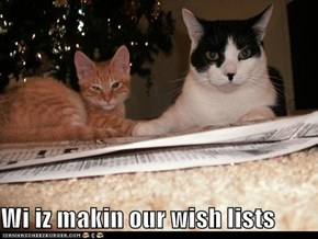 Wi iz makin our wish lists