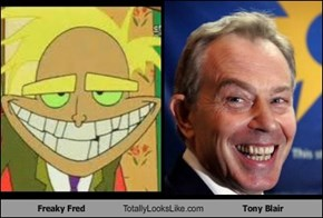 Freaky Fred Totally Looks Like Tony Blair