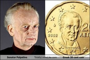 Senator Palpatine Totally Looks Like Greek 20 Cent Coin