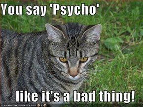You say 'Psycho'  like it's a bad thing!