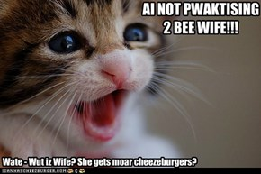 AI NOT PWAKTISING 2 BEE WIFE!!!