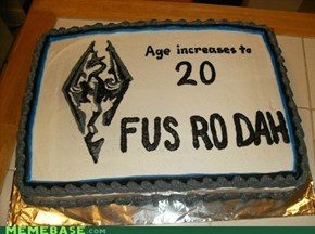 My little brother's birthday + former cake decorator mom + my nerd knowledge =