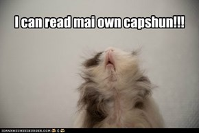 I can read mai own capshun!!!