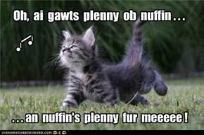 Oh,  ai  gawts  plenny  ob  nuffin . . .