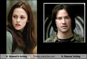 K. Stewart's Acting Totally Looks Like K. Reeves' Acting