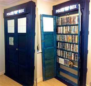 TARDIS Bookcase of the Day