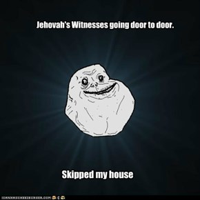 Jehovah's Witnesses going door to door.