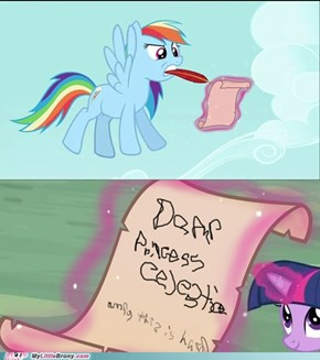 What Rainbow Dash Wrote to Princess Celestia