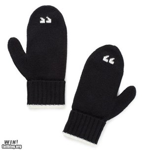 Air Quote Mittens WIN