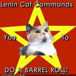 Lenin Cat Commands  You                    To DO A BARREL ROLL!
