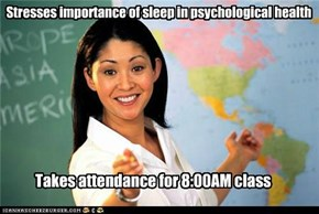 Stresses importance of sleep in psychological health