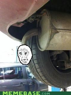 Car exhaust is ok with it.