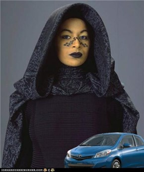 The Barriss drives a Yaris